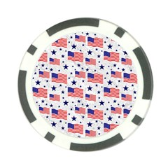 Flag Of The Usa Pattern Poker Chip Card Guard by EDDArt