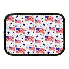 Flag Of The Usa Pattern Netbook Case (medium)  by EDDArt