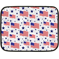 Flag Of The Usa Pattern Double Sided Fleece Blanket (mini)  by EDDArt