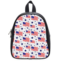 Flag Of The Usa Pattern School Bags (small)  by EDDArt