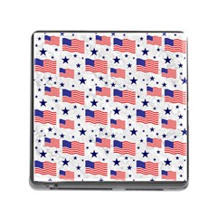 Flag Of The Usa Pattern Memory Card Reader (square) by EDDArt