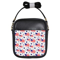 Flag Of The Usa Pattern Girls Sling Bags by EDDArt