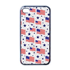 Flag Of The Usa Pattern Apple Iphone 4 Case (black) by EDDArt
