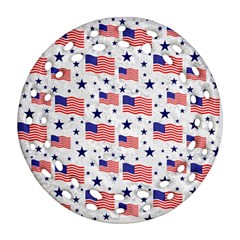 Flag Of The Usa Pattern Ornament (round Filigree) by EDDArt
