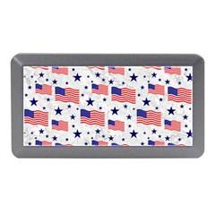 Flag Of The Usa Pattern Memory Card Reader (mini) by EDDArt