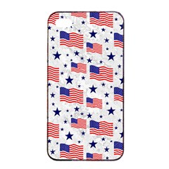 Flag Of The Usa Pattern Apple Iphone 4/4s Seamless Case (black) by EDDArt
