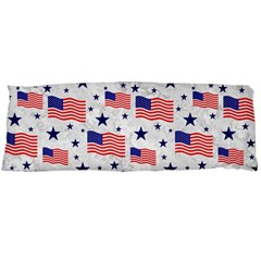 Flag Of The Usa Pattern Body Pillow Case Dakimakura (two Sides) by EDDArt