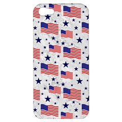 Flag Of The Usa Pattern Apple Iphone 5 Hardshell Case by EDDArt