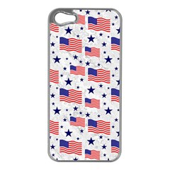 Flag Of The Usa Pattern Apple Iphone 5 Case (silver) by EDDArt