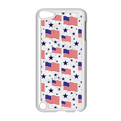 Flag Of The Usa Pattern Apple Ipod Touch 5 Case (white) by EDDArt