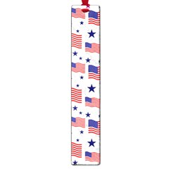Flag Of The Usa Pattern Large Book Marks by EDDArt