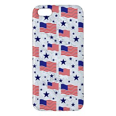 Flag Of The Usa Pattern Apple Iphone 5 Premium Hardshell Case by EDDArt