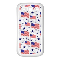 Flag Of The Usa Pattern Samsung Galaxy S3 Back Case (white) by EDDArt