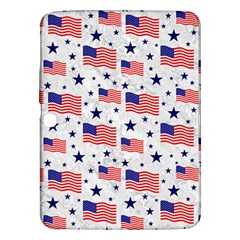 Flag Of The Usa Pattern Samsung Galaxy Tab 3 (10 1 ) P5200 Hardshell Case  by EDDArt