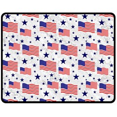 Flag Of The Usa Pattern Double Sided Fleece Blanket (medium)  by EDDArt