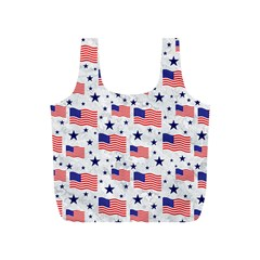 Flag Of The Usa Pattern Full Print Recycle Bags (s)  by EDDArt