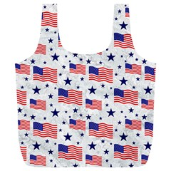 Flag Of The Usa Pattern Full Print Recycle Bags (l)  by EDDArt