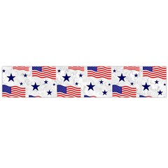 Flag Of The Usa Pattern Flano Scarf (large) by EDDArt
