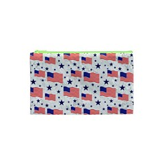 Flag Of The Usa Pattern Cosmetic Bag (xs) by EDDArt