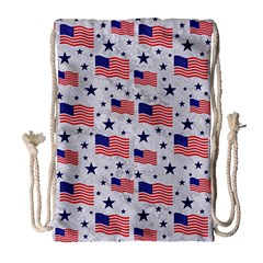 Flag Of The Usa Pattern Drawstring Bag (large) by EDDArt