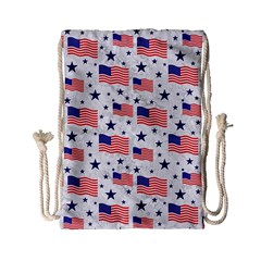 Flag Of The Usa Pattern Drawstring Bag (small) by EDDArt