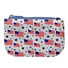 Flag Of The Usa Pattern Large Coin Purse by EDDArt