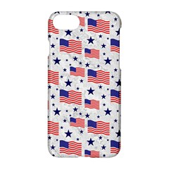 Flag Of The Usa Pattern Apple Iphone 7 Hardshell Case by EDDArt