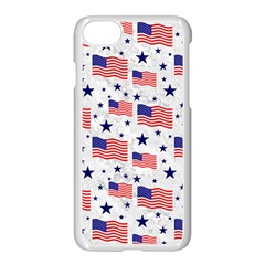 Flag Of The Usa Pattern Apple Iphone 7 Seamless Case (white) by EDDArt