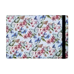 Watercolor Flowers Butterflies Pattern Blue Red Ipad Mini 2 Flip Cases by EDDArt