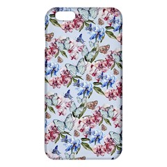 Watercolor Flowers Butterflies Pattern Blue Red Iphone 6 Plus/6s Plus Tpu Case by EDDArt