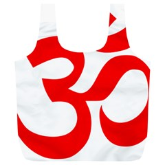 Hindu Om Symbol Full Print Recycle Bags (l)  by abbeyz71