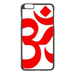 Hindu Om Symbol Apple Iphone 6 Plus/6s Plus Black Enamel Case by abbeyz71