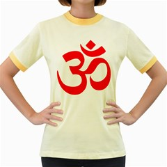Hindu Om Symbol Women s Fitted Ringer T-shirts by abbeyz71