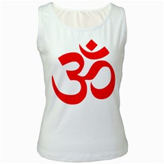 Hindu Om Symbol Women s White Tank Top by abbeyz71