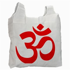 Hindu Om Symbol Recycle Bag (one Side) by abbeyz71