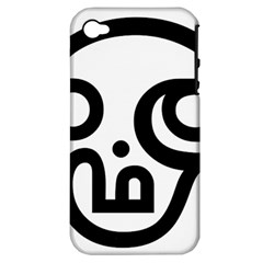 Hindu Om Symbol In Tamil  Apple Iphone 4/4s Hardshell Case (pc+silicone) by abbeyz71