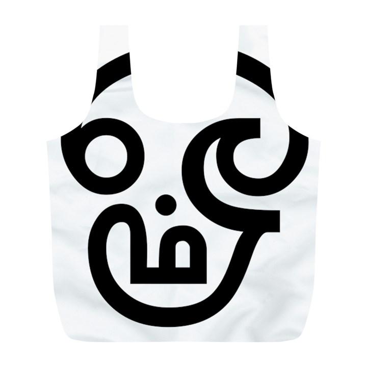 Hindu Om Symbol In Tamil Full Print Recycle Bags L Full Print