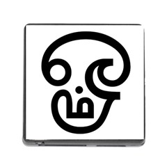 Hindu Om Symbol In Tamil Memory Card Reader (square) by abbeyz71