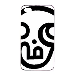 Hindu Om Symbol In Tamil Apple Iphone 4/4s Seamless Case (black) by abbeyz71