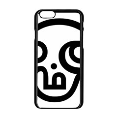 Hindu Om Symbol In Tamil Apple Iphone 6/6s Black Enamel Case by abbeyz71