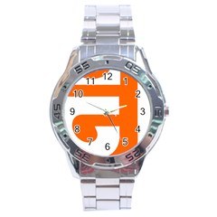 Om Symbol In Jainism  Stainless Steel Analogue Watch by abbeyz71