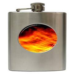Black Yellow Red Sunset Hip Flask (6 Oz) by Costasonlineshop