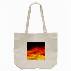 Black Yellow Red Sunset Tote Bag (cream) by Costasonlineshop