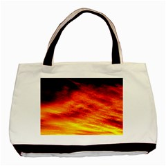 Black Yellow Red Sunset Basic Tote Bag by Costasonlineshop