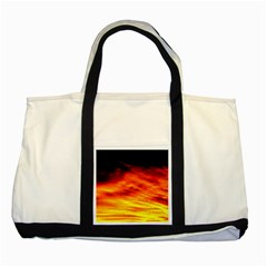 Black Yellow Red Sunset Two Tone Tote Bag by Costasonlineshop