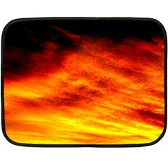 Black Yellow Red Sunset Double Sided Fleece Blanket (mini)  by Costasonlineshop