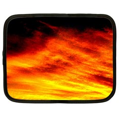Black Yellow Red Sunset Netbook Case (xl)  by Costasonlineshop