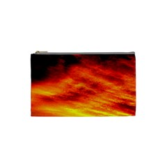 Black Yellow Red Sunset Cosmetic Bag (small)  by Costasonlineshop