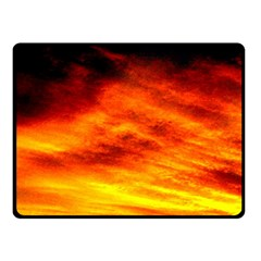 Black Yellow Red Sunset Fleece Blanket (small) by Costasonlineshop