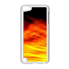 Black Yellow Red Sunset Apple Ipod Touch 5 Case (white) by Costasonlineshop